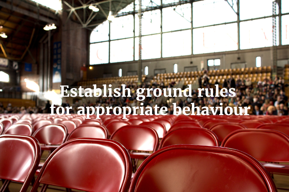 summarise ways to establish ground rules with learners