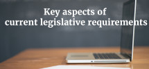 keyaspectscurrentlegislativerequirements