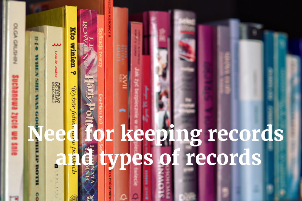 justify the need for keeping records Here are some reasons that would/might justify the retention of paper and other hard-copy records: laws, regulations and industry standards that require hard-copy for specific functions or content existing contracts that require maintaining and/or providing hard-copy records to external stakeholders (eg, customers.
